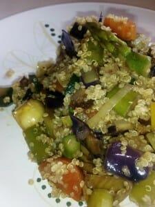 Verduras con quinoa