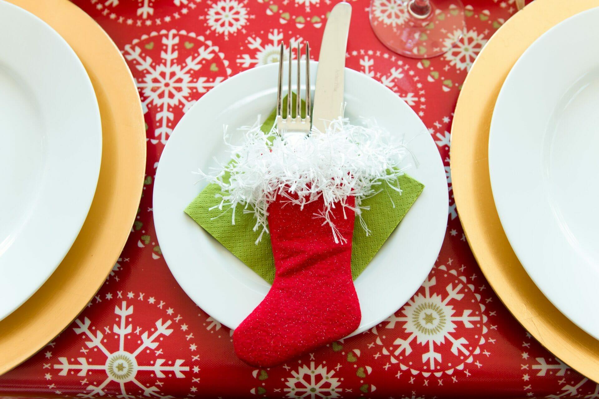 comiendo en PAZ en Navidad