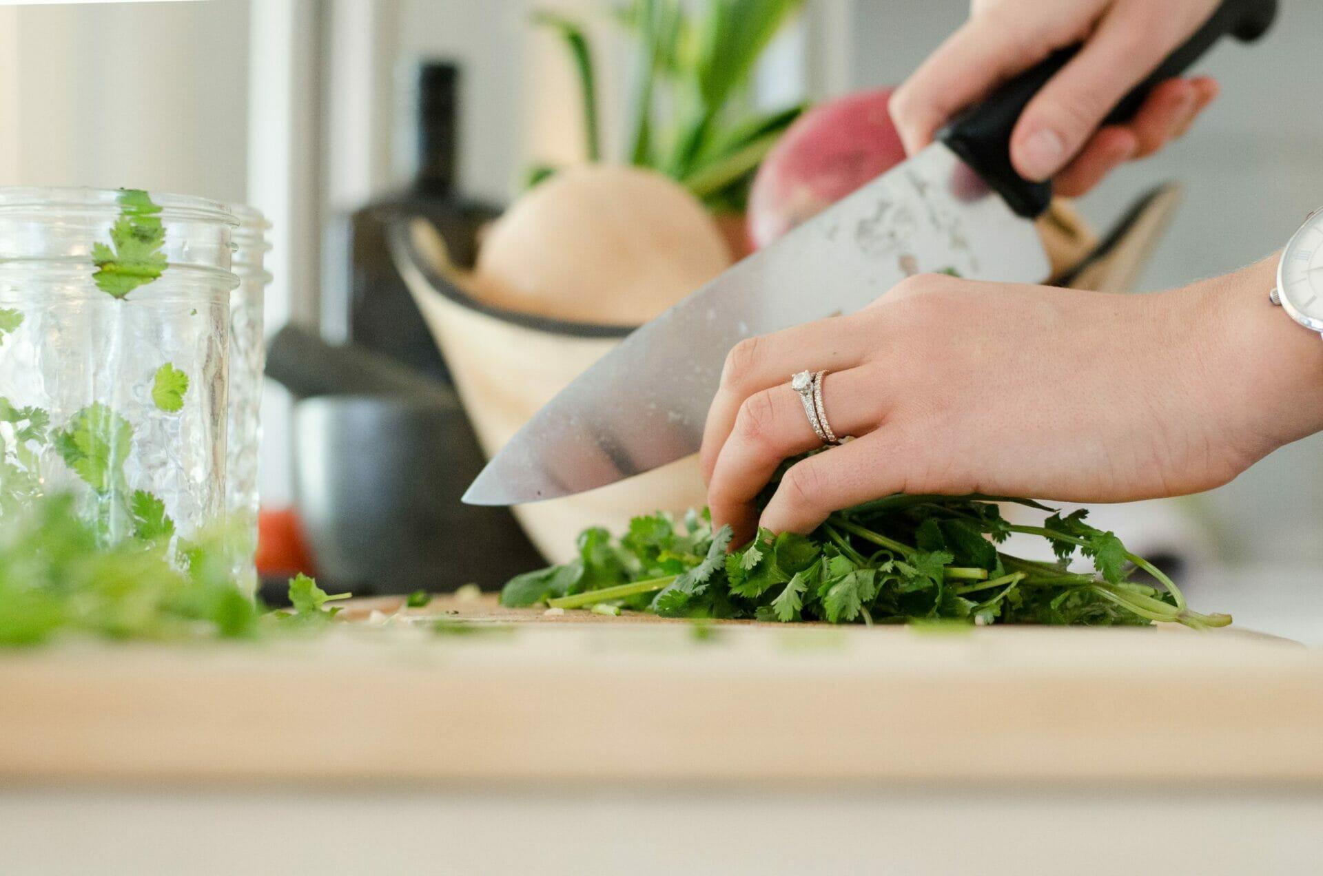 preparar comida saludable
